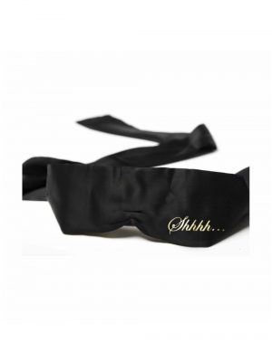 Bijoux Indiscrets Shhh Satin Luxury Blindfold Black Main