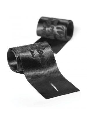 Bijoux Indiscrets Silky Sensual Handcuffs Black