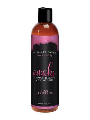 Intimate Earth Awake Vegan Aromatherapy Massage Oil Pink Grapefruit 120ml