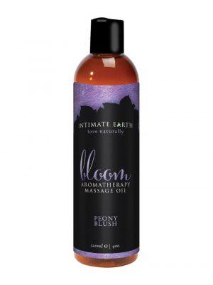Intimate Earth Bloom Vegan Aromatherapy Massage Oil Peony Blush 120ml