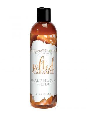Intimate Earth Salted Caramel Oral Pleasure Glide Vegan Flavoured Lubricant 120ml Bottle