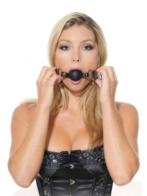 Pipedream Fetish Fantasy Series Breathable Ball Gag Training System Set of 3 Balls Wearing