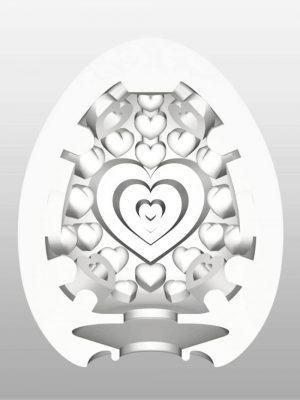 TENGA EGG Lovers Heart Textured Male Masturbator Inside