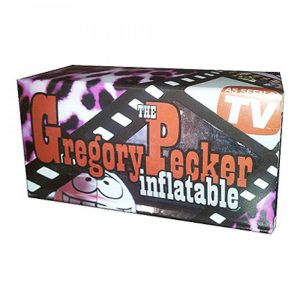 Gregory Pecker Inflatable Willy - Blow Up Penis for Parties - Product Packaging