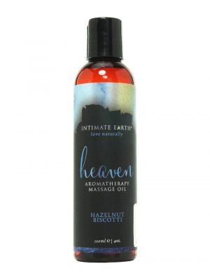 Intimate Earth Heaven Vegan Aromatherapy Massage Oil Hazelnut Biscotti 120ml