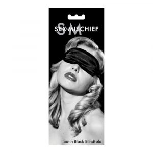 Sex & Mischief Satin Blindfold for Bondage - Black