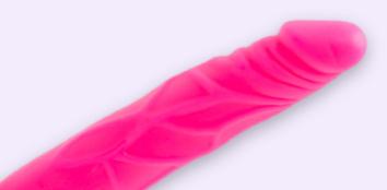 Pink Plastic Dildo