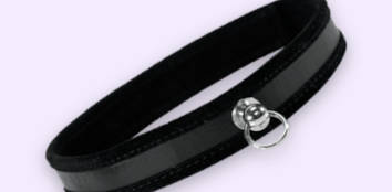 Black Faux Leather Collar