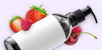 Black Bottle of Fruit Flavoured Lubricant