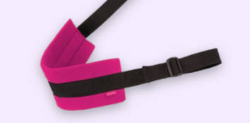 Pink and Black Fabric Sex Sling
