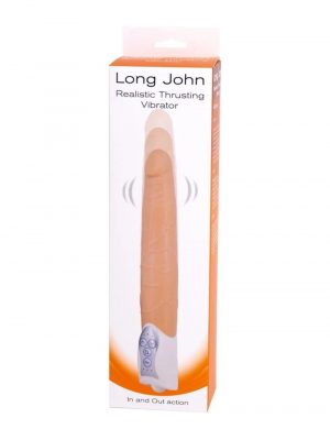 Seven Creations Long John Realistic Thrusting Vibrator Packaged