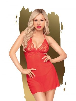 Penthouse Bedtime Story Negligee Set Red S XL
