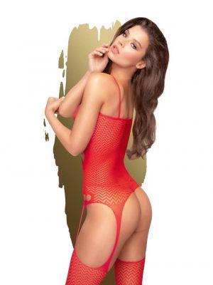 Penthouse Hot Nightfall Garter Dress Set Red S-XL Back